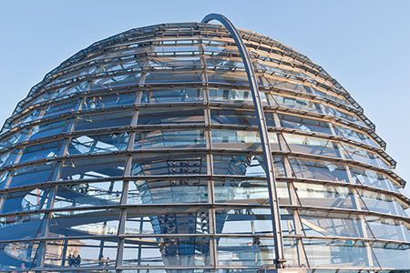 Berlin, dome of the Reichstag building, used under license from shutterstock.com.