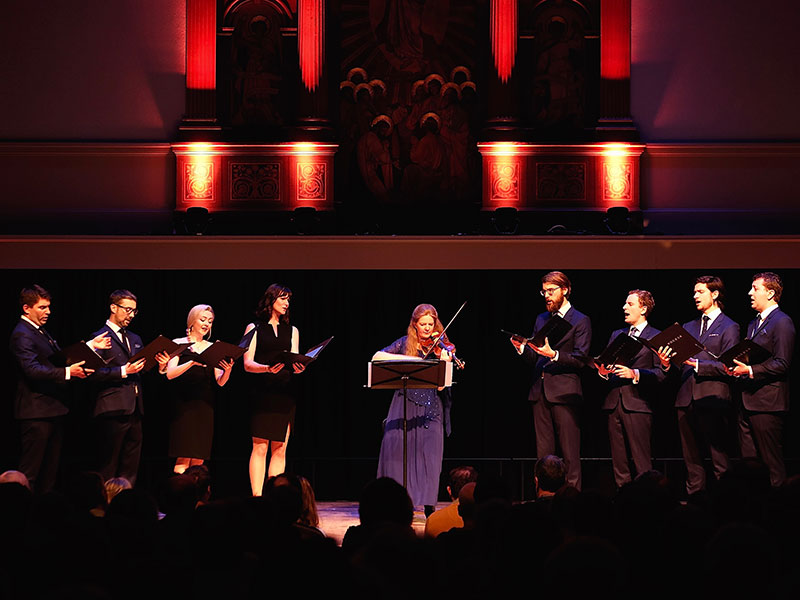 VOCES8 perform as part of Rachel Podger's 'A Guardian Angel' collaboration