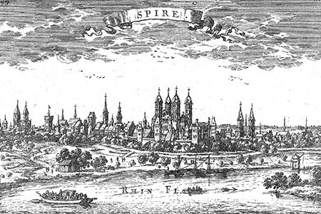 Speyer, copper engraving c. 1700.