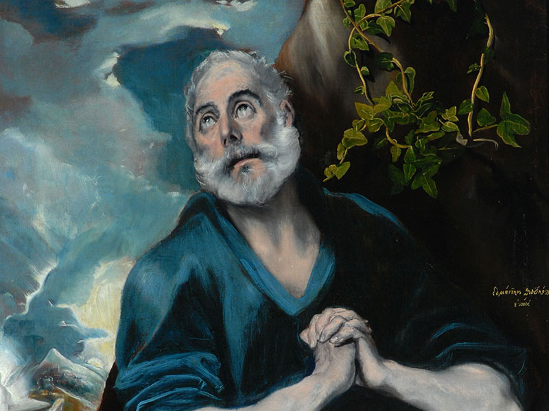 El Greco (1541–1614), The Tears of St Peter, c. 1580–1589, oil on canvas, The Bowes Museum.